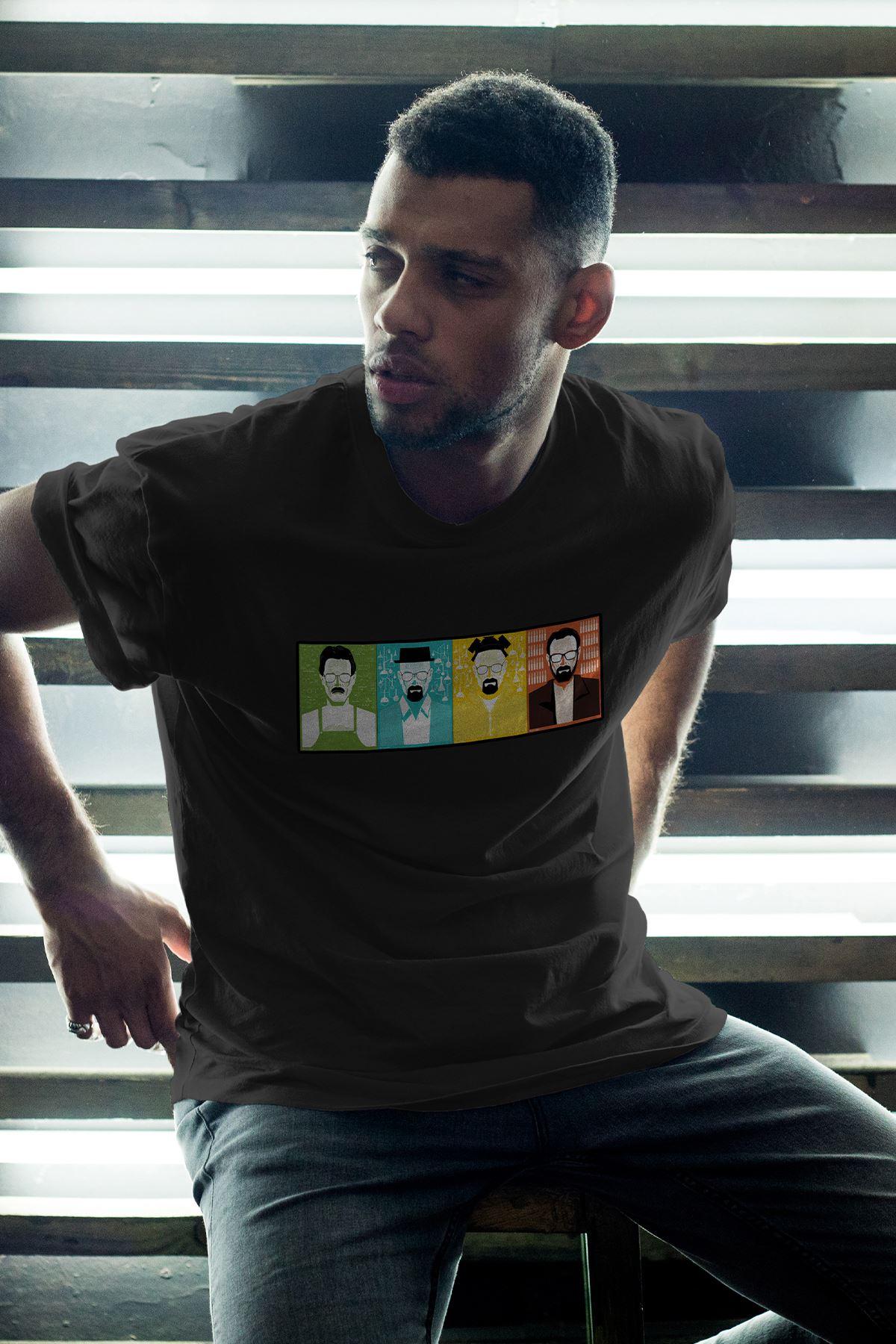 Breaking Bad Heisenberg 01 Siyah Erkek Oversize Tshirt - Tişört