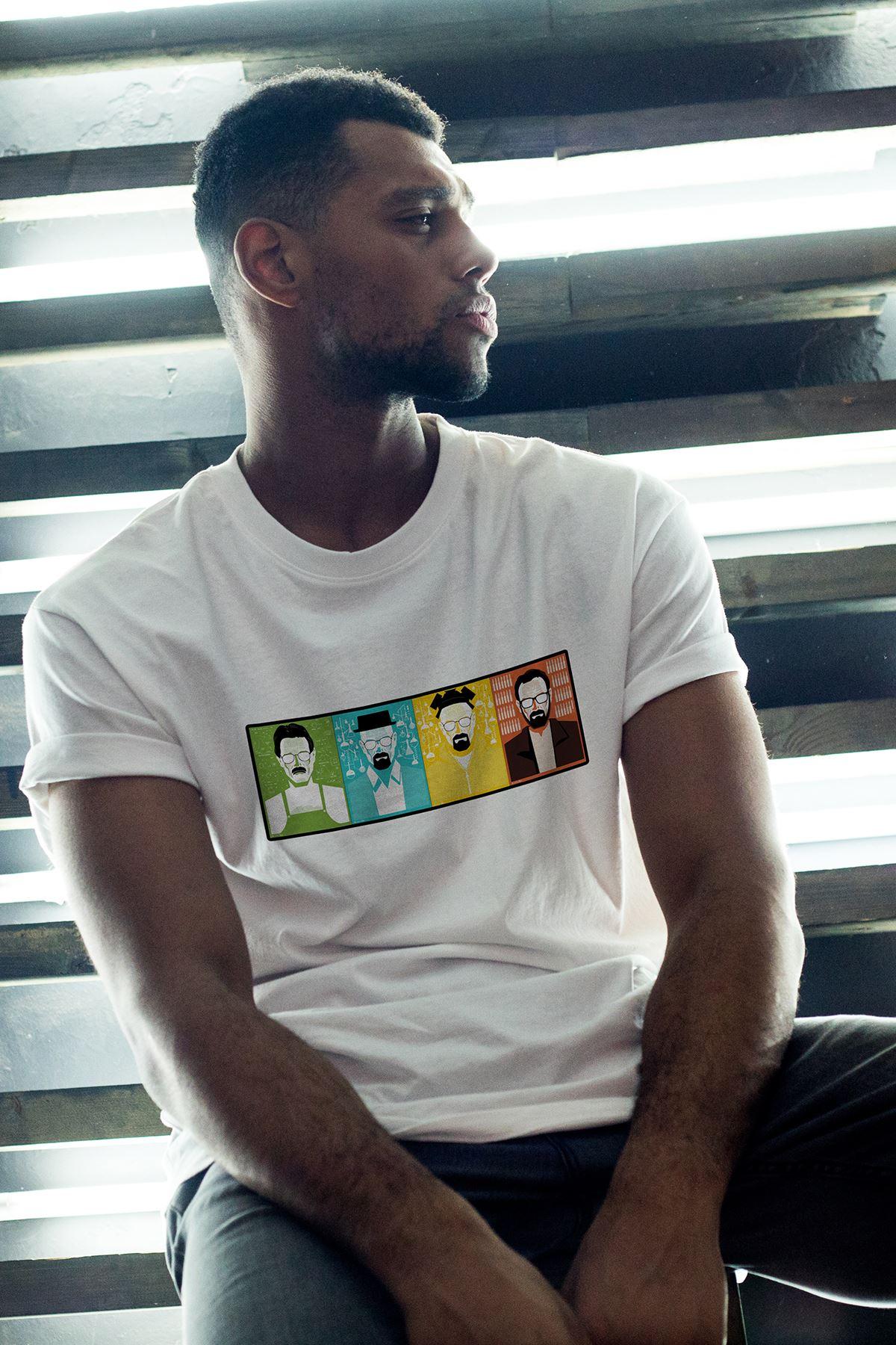 Breaking Bad Heisenberg 01 Beyaz Erkek Oversize Tshirt - Tişört