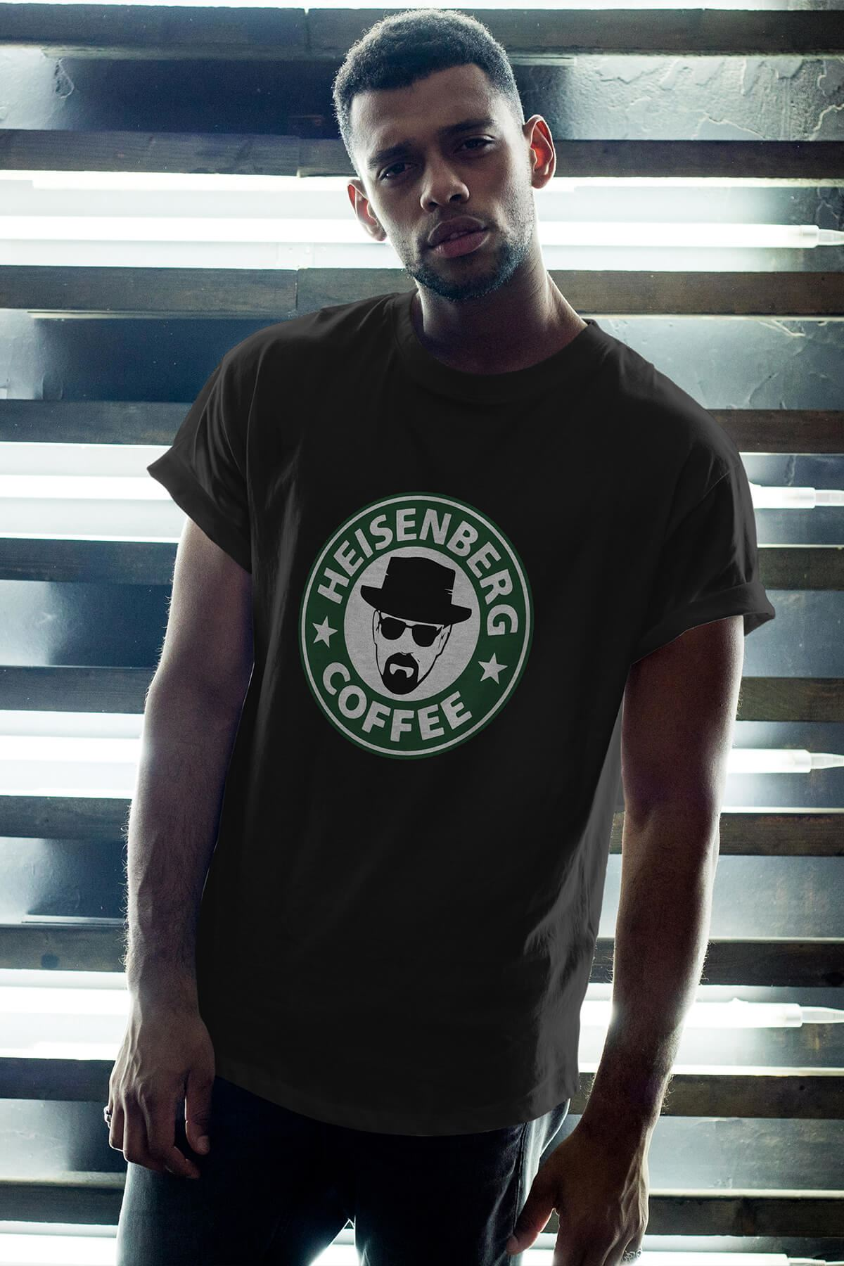 Breaking Bad Heisenberg 14 Siyah Erkek Oversize Tshirt - Tişört