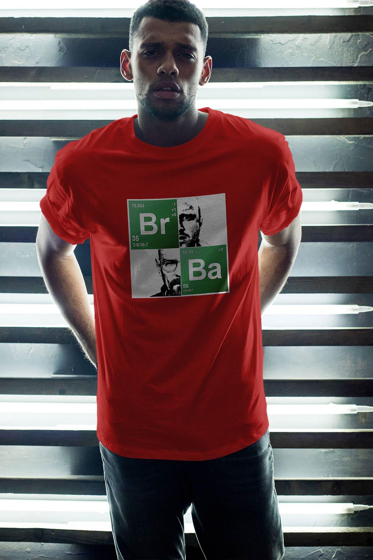 Breaking Bad BR-BA 19 Kırmızı Erkek Oversize Tshirt - Tişört