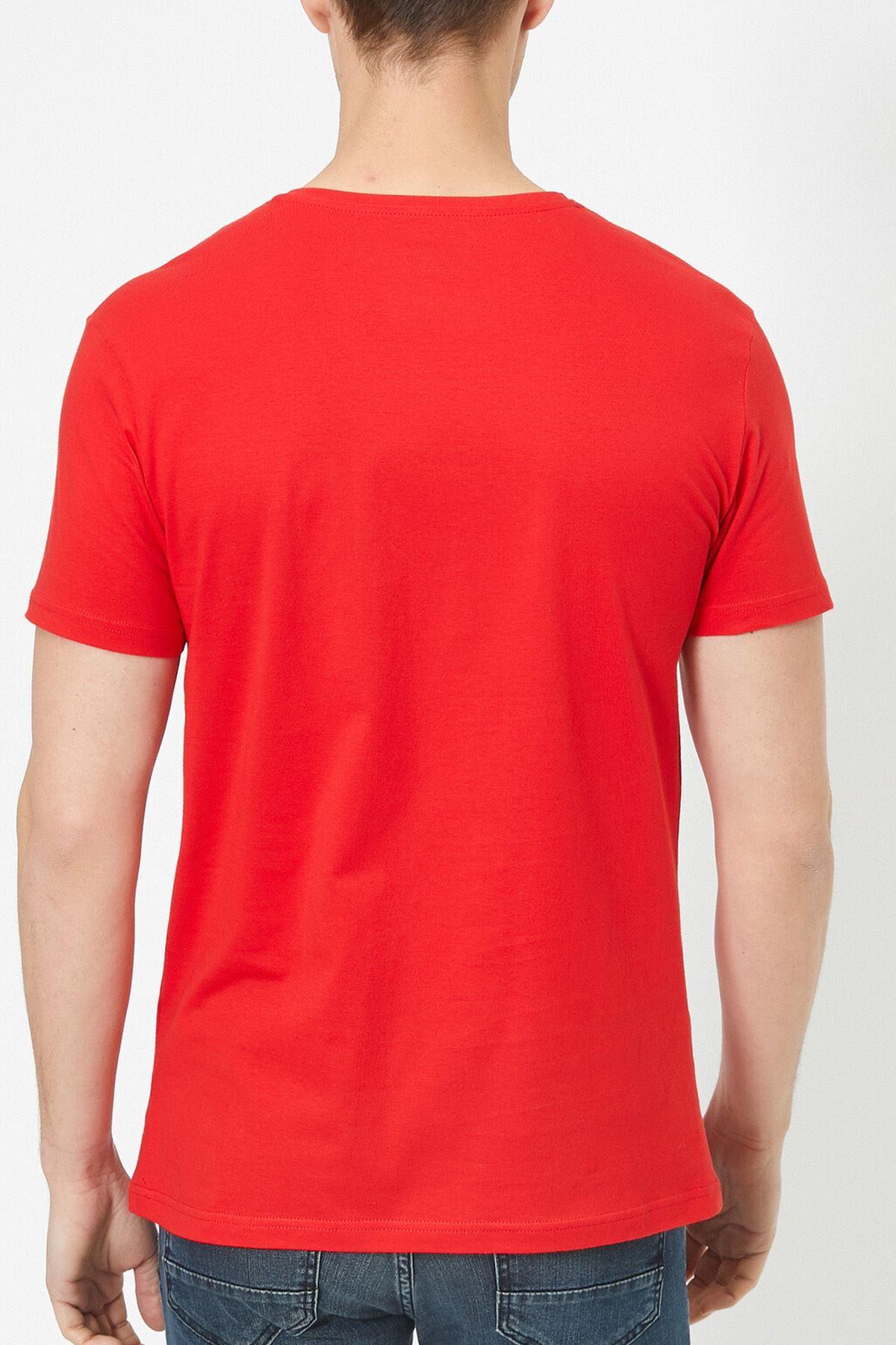 Anime 01 Kırmızı Erkek Tshirt - Tişört