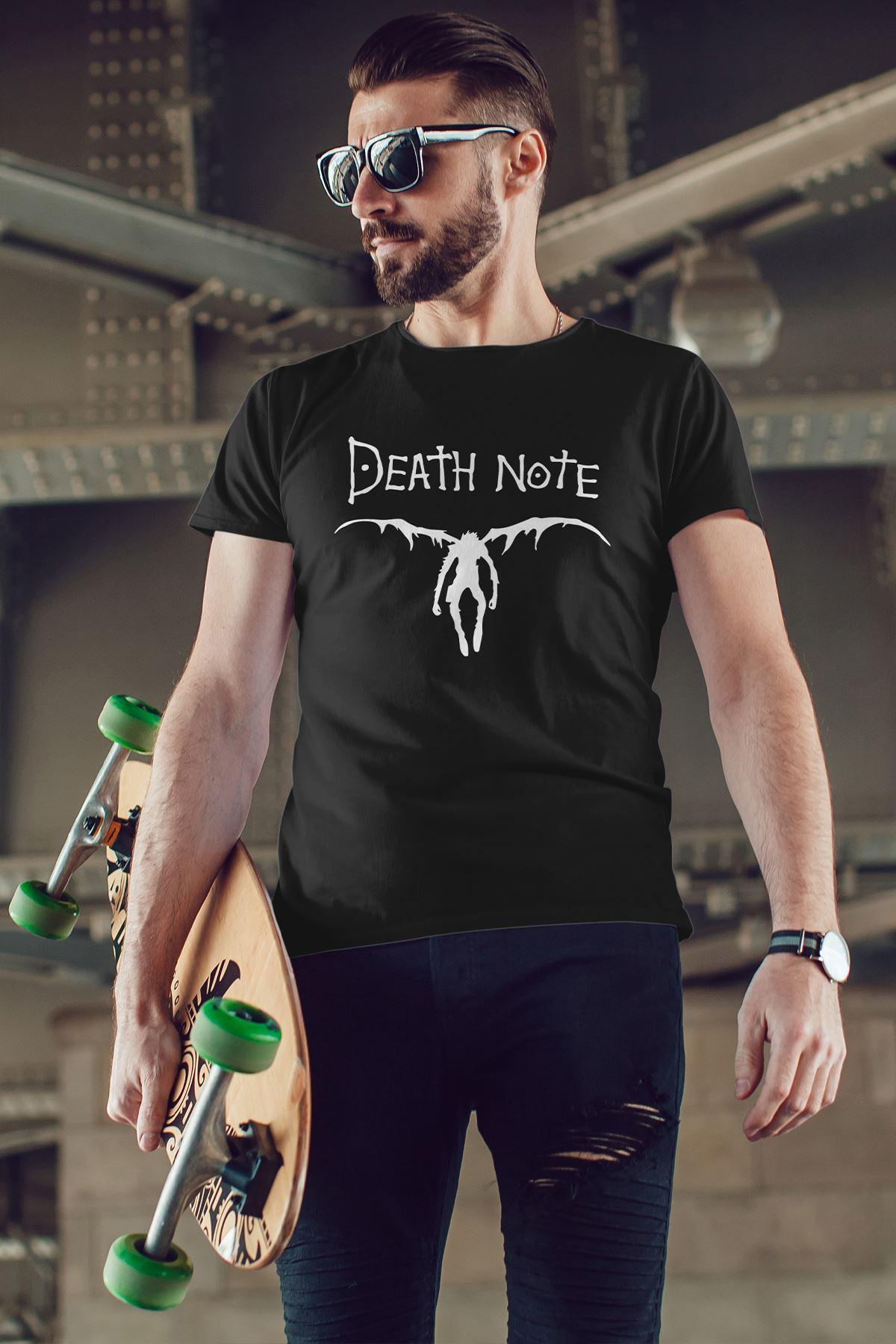 Anime Death Note 08 Siyah Erkek Tshirt - Tişört