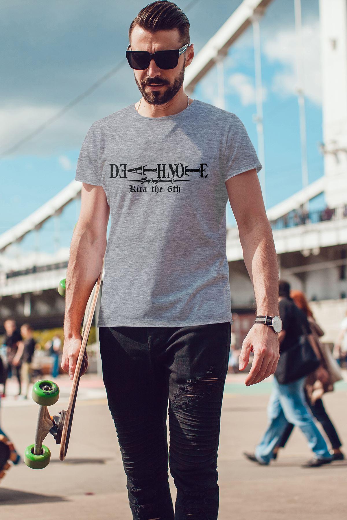 Anime Death Note Gri Erkek Tshirt - Tişört