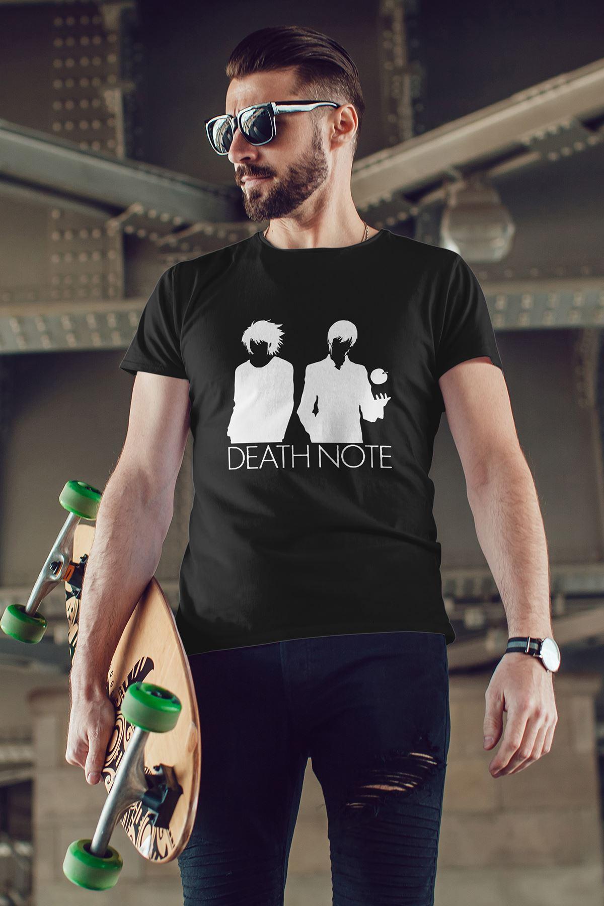 Anime Death Note 07 Siyah Erkek Tshirt - Tişört