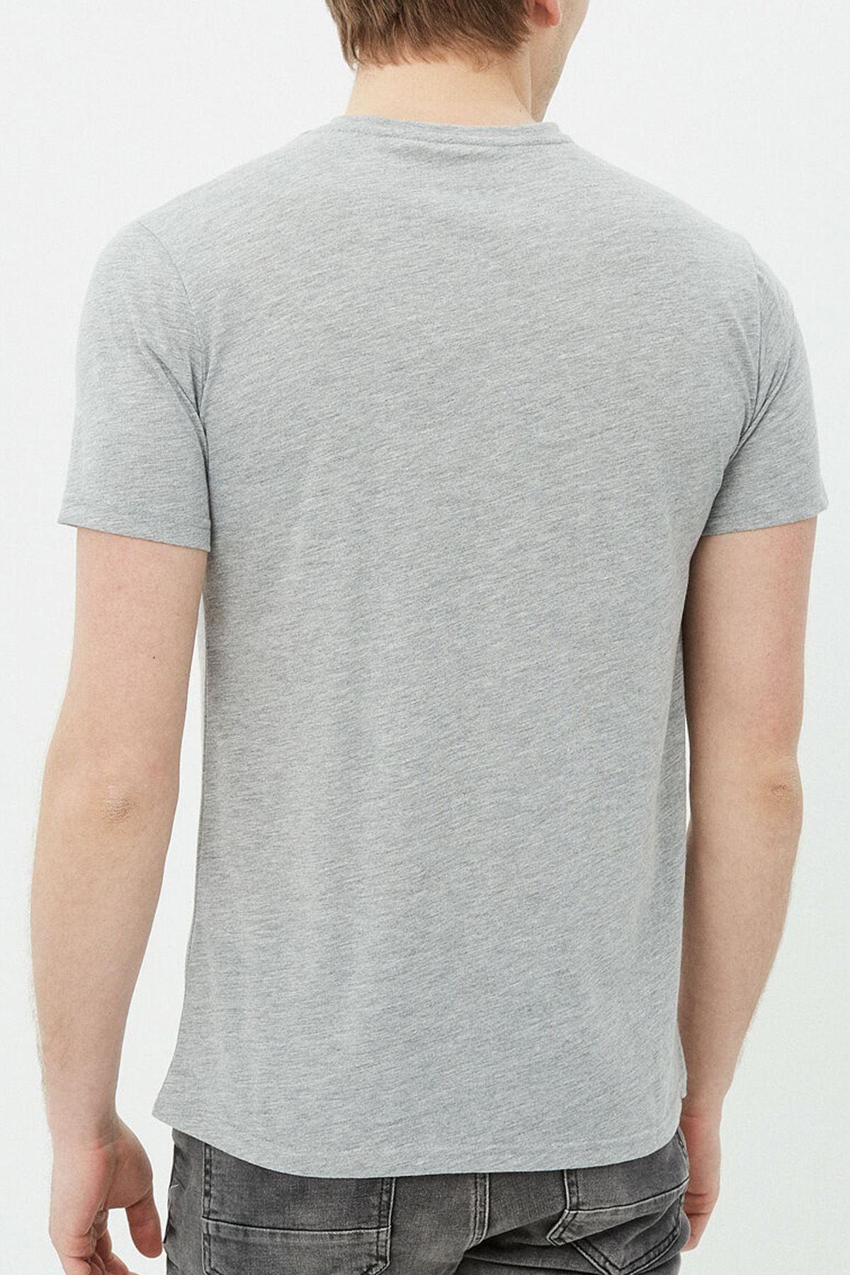 Anime Bebop 04 Gri Erkek Tshirt - Tişört
