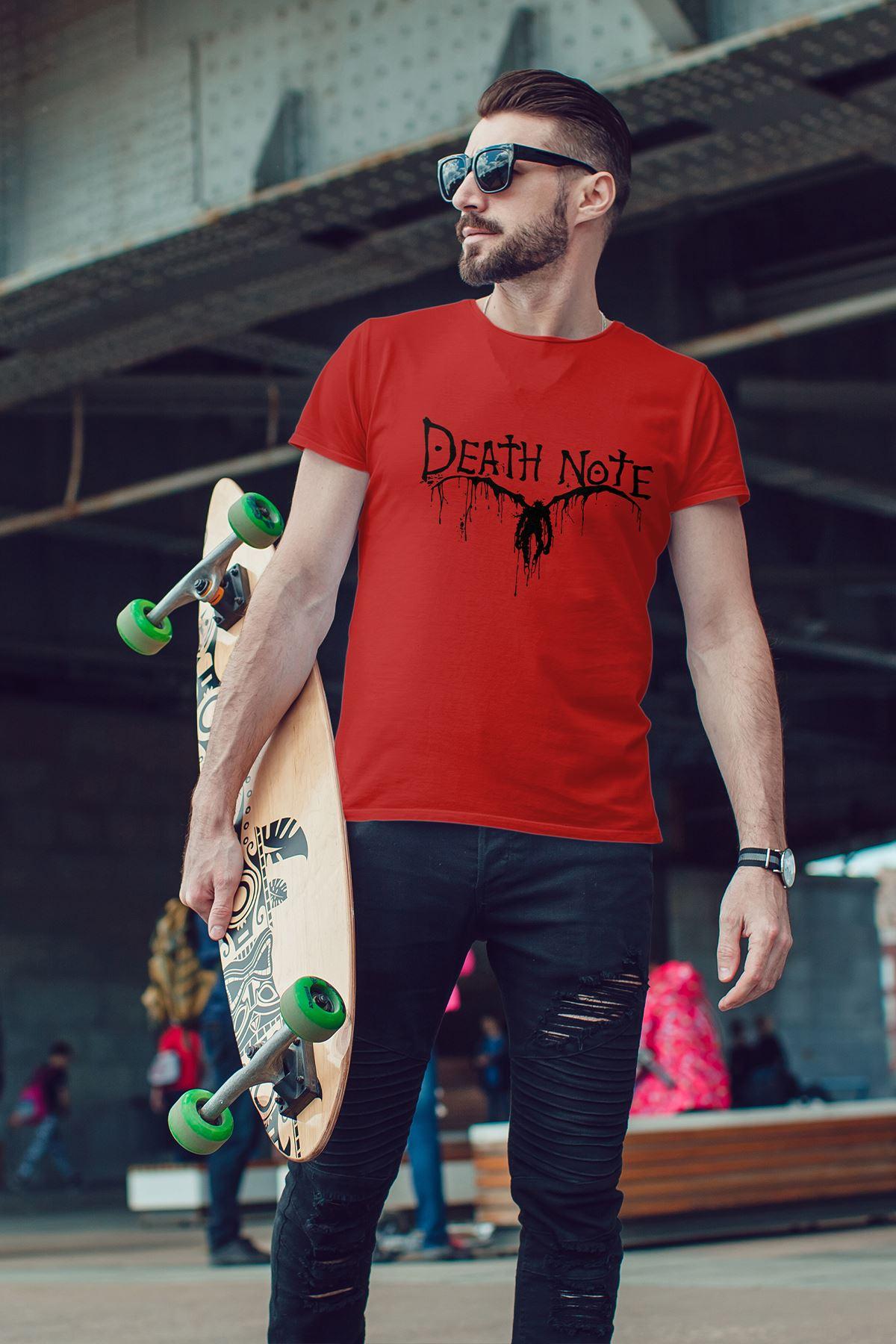 Anime Death Note 06 Kırmızı Erkek Tshirt - Tişört