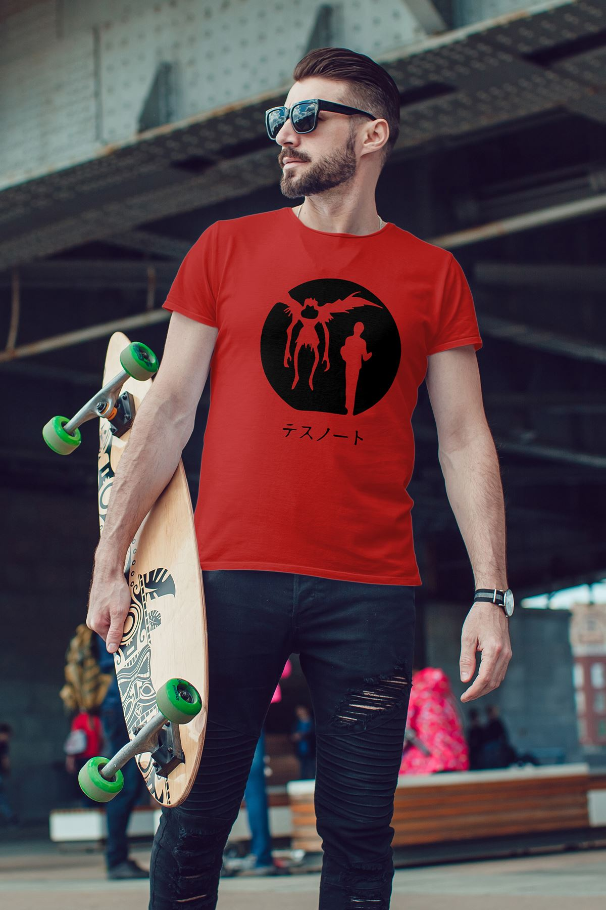 Anime Death Note 12 Kırmızı Erkek Tshirt - Tişört
