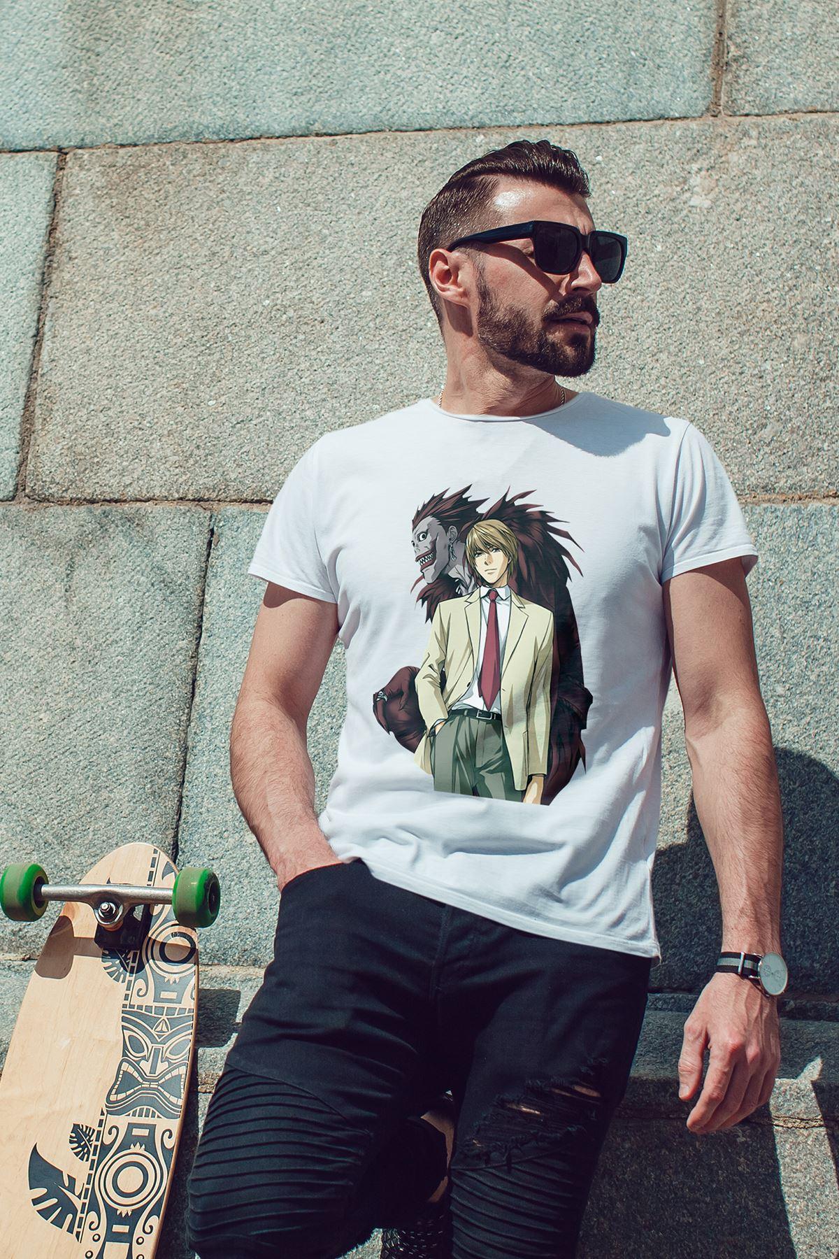 Anime Ryukkira 02 Beyaz Erkek Tshirt - Tişört