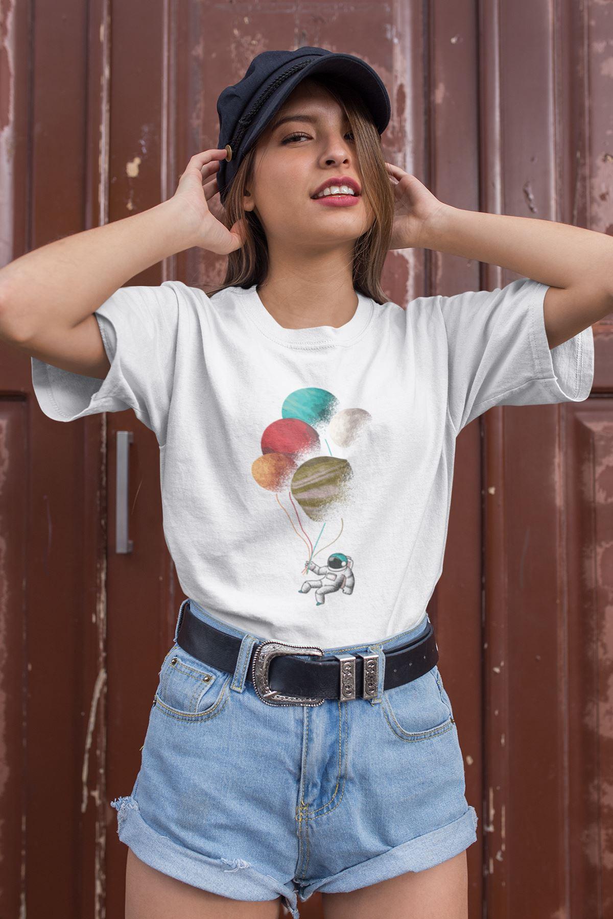 Astro Beyaz Outdoor Kadın Tshirt - Tişört