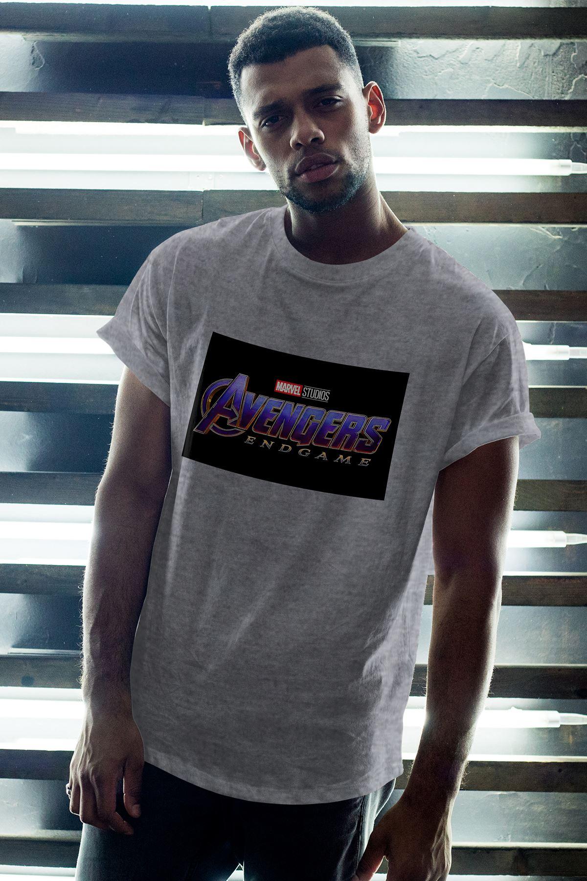 Avanger Gri Erkek Oversize Tshirt - Tişört