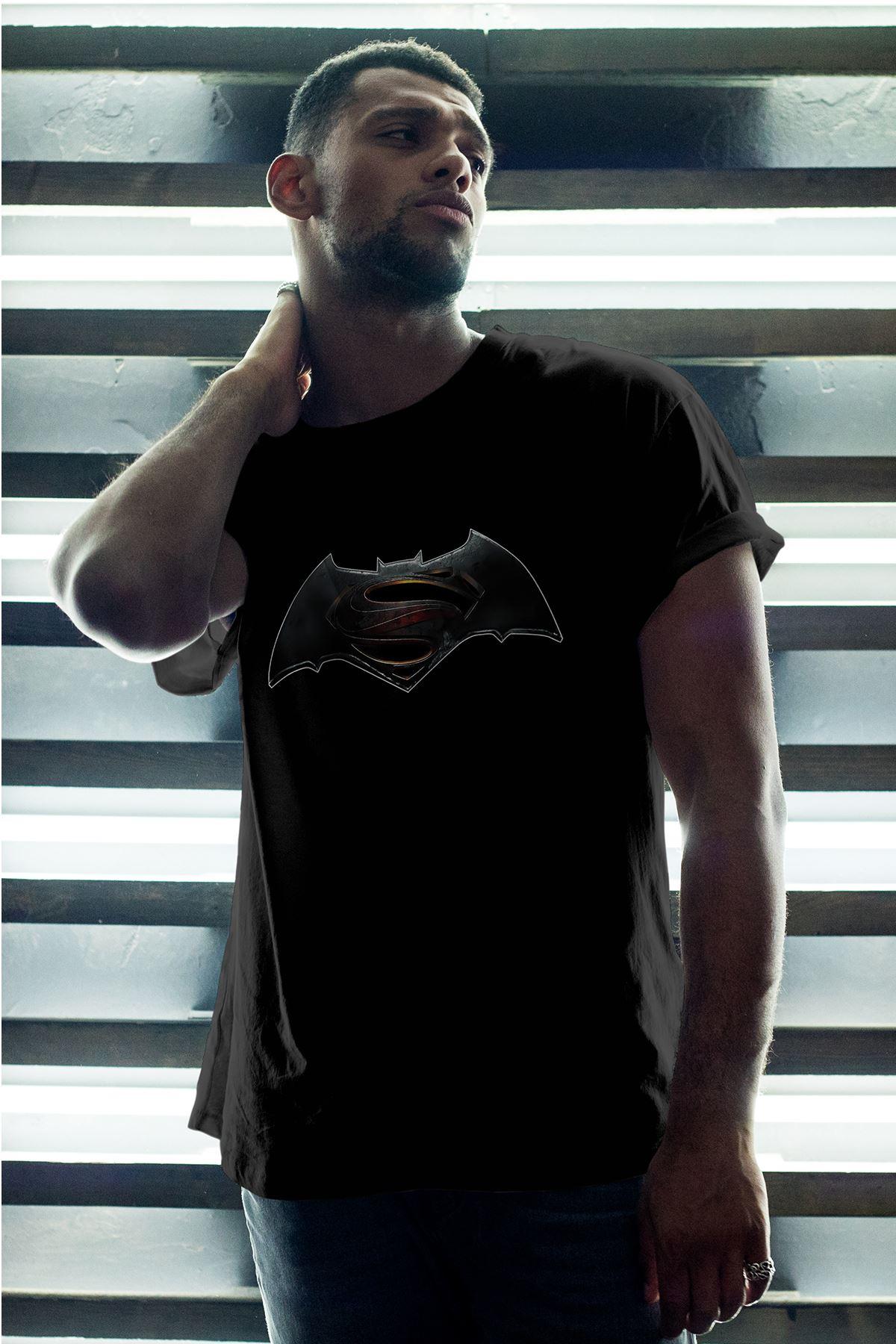 Batman Siyah Erkek Oversize Tshirt - Tişört