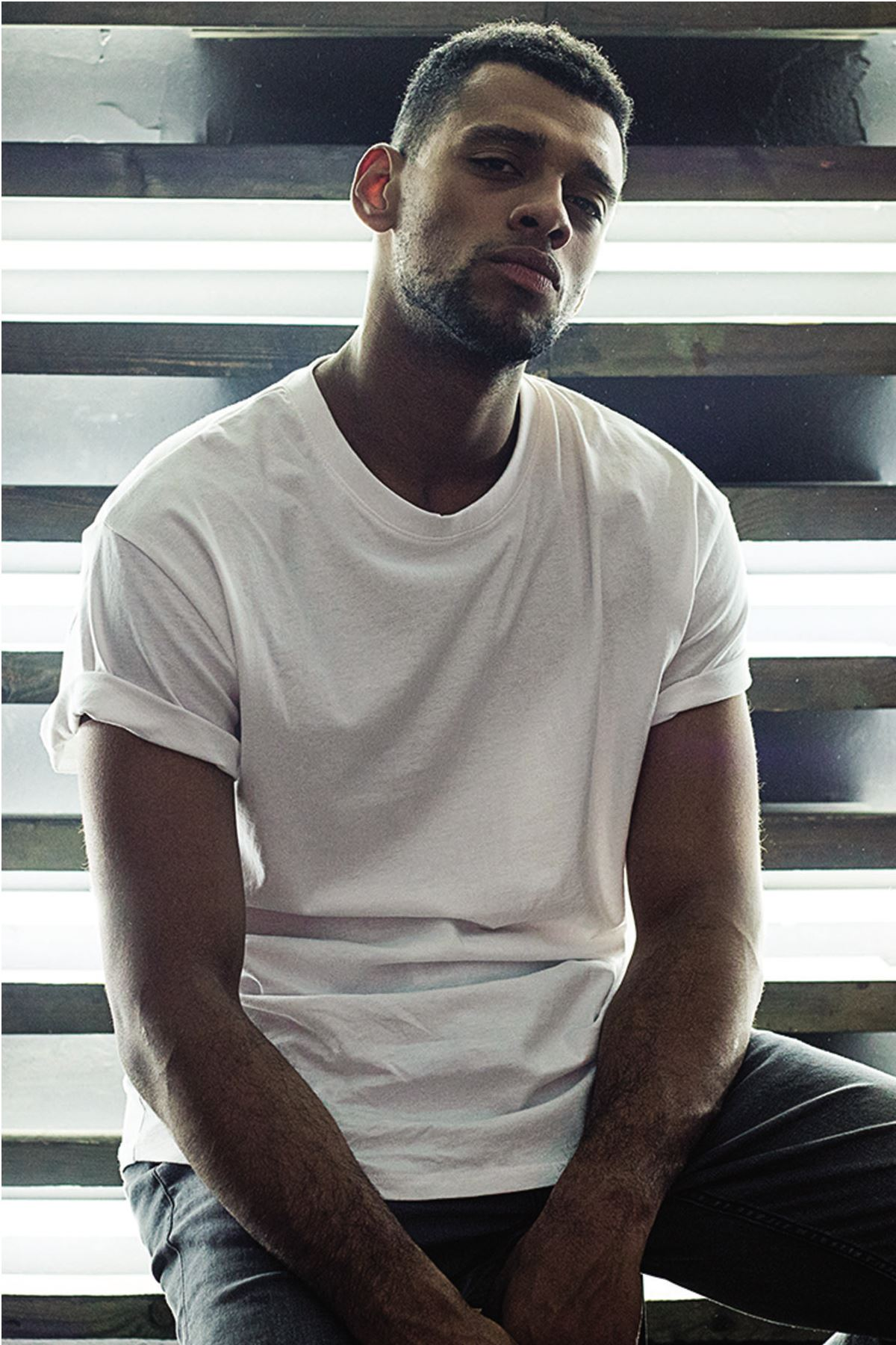 Beyaz Erkek Oversize Tshirt - Tişört