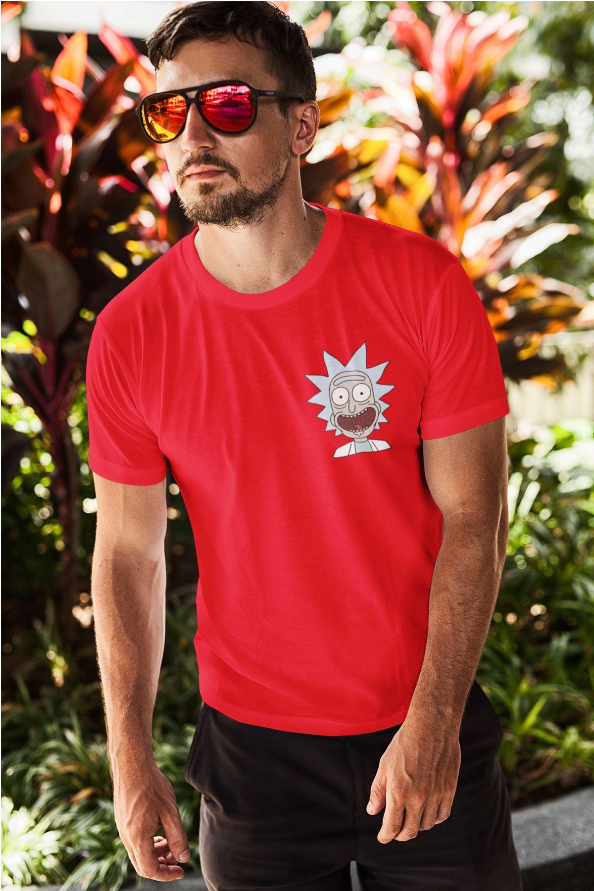 Rick Kırmızı Erkek Tshirt - Tişört