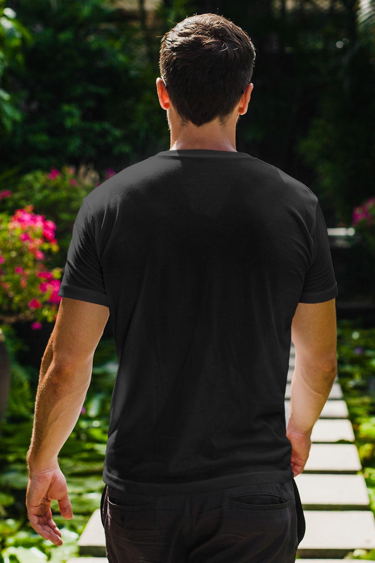 Rick Siyah Erkek Tshirt - Tişört