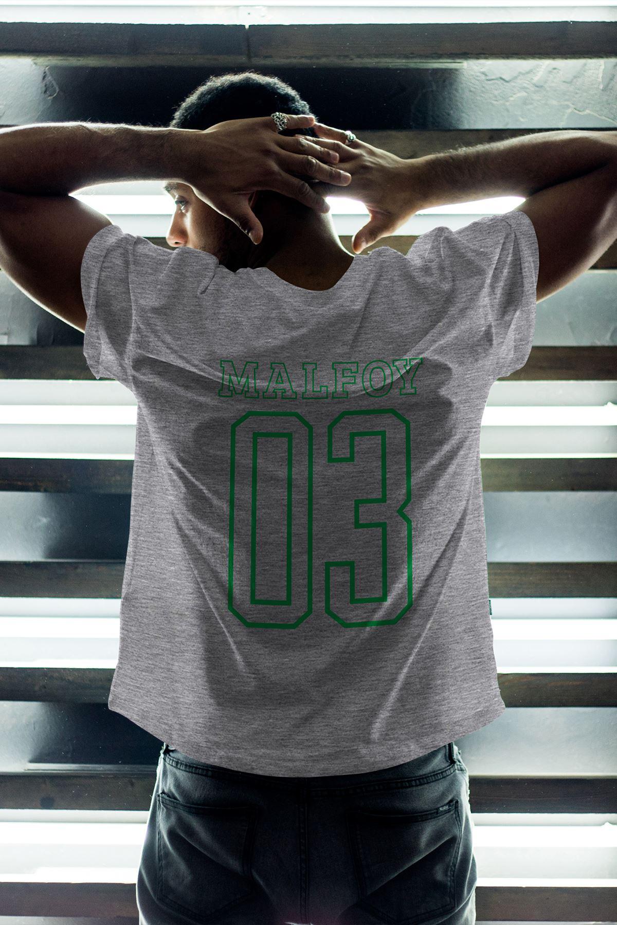 Slytherin Gri Erkek Oversize Tshirt - Tişört