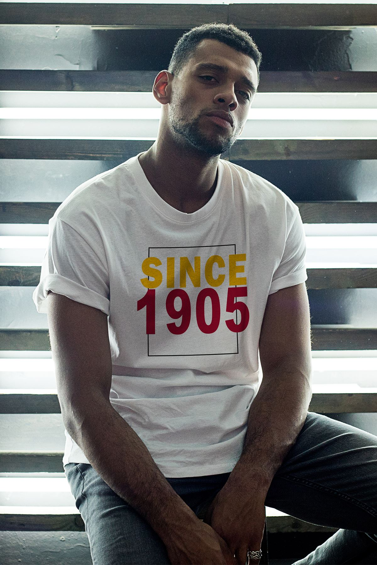 Since 1905 Beyaz Erkek Oversize Tshirt - Tişört