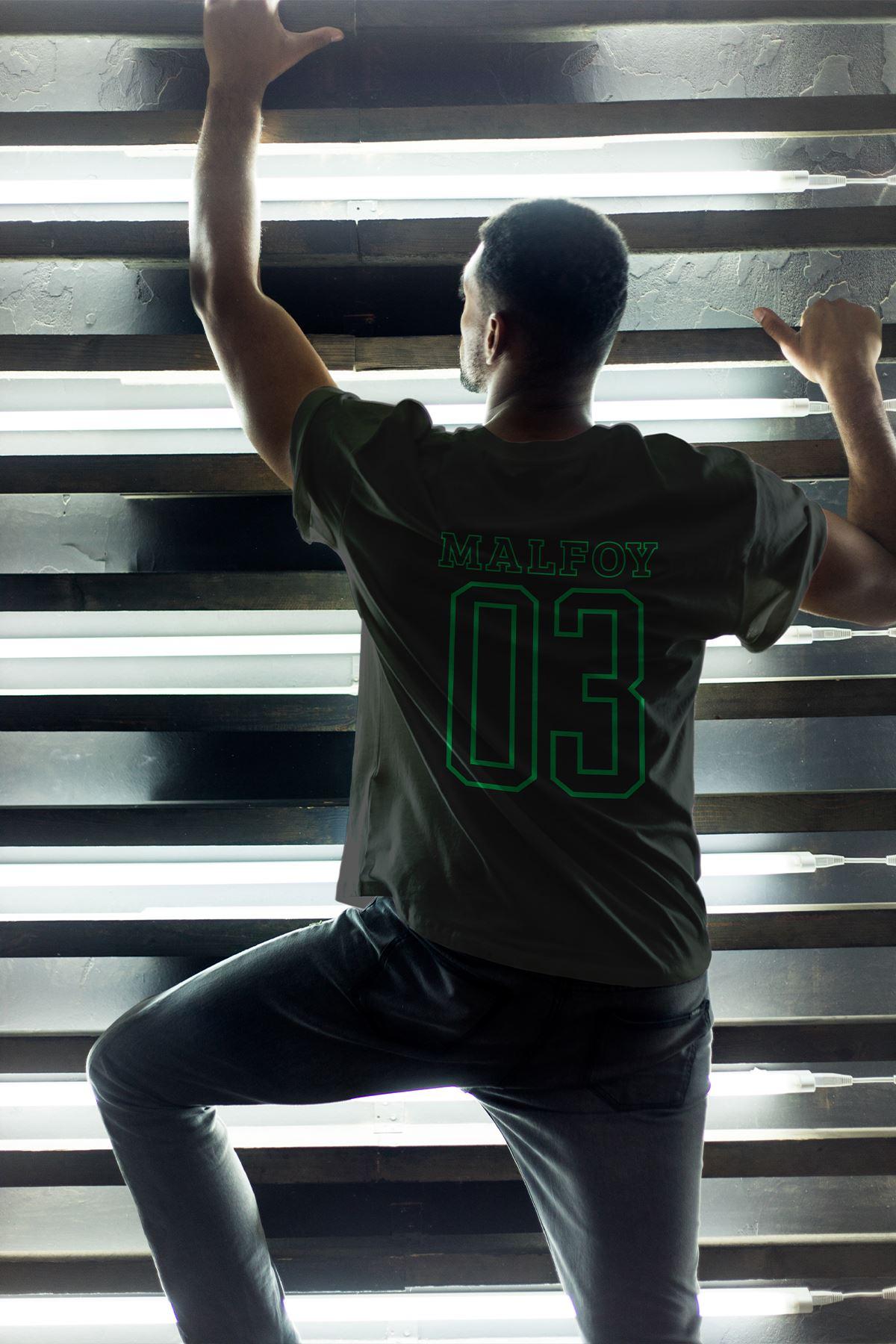 Slytherin Siyah Erkek Oversize Tshirt - Tişört